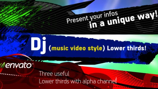 Thumbnail for DJ (music video) Lower Third pack