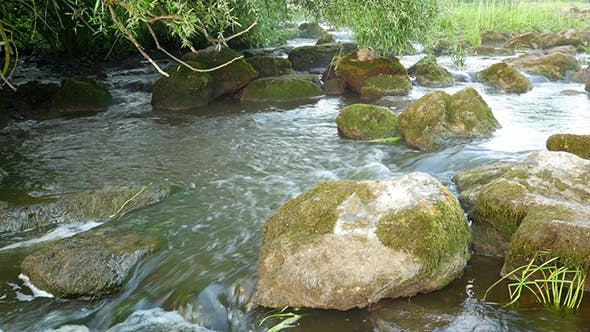 Thumbnail for Fast Flowing River With Stones