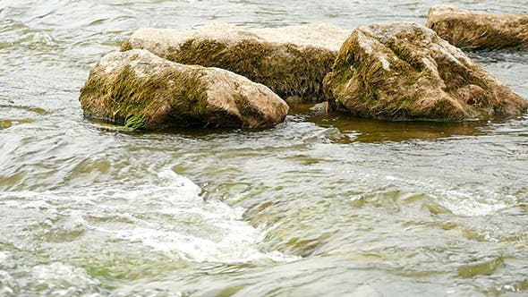 Cover Image for Fast Flowing River With Stones In Water