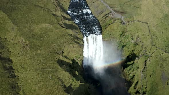 Thumbnail for Beautiful And Powerful Waterfall In Iceland
