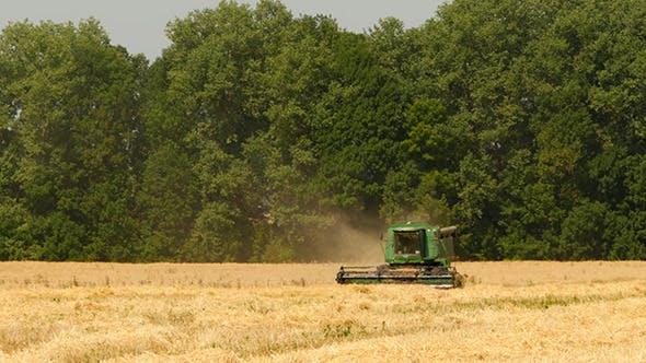 Thumbnail for Modern Combine Harvesting Grain In The Field