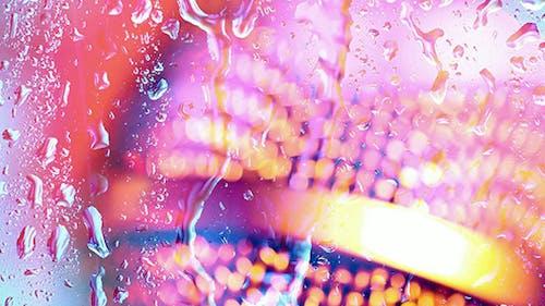 Water Drops Splatter On Glass