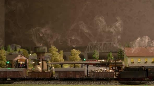 Train Station of a Miniature Train.