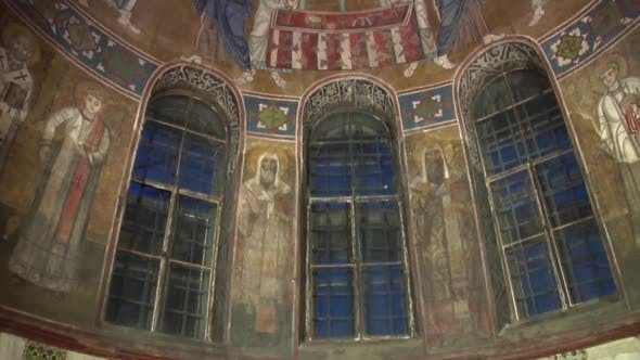 Thumbnail for Decke einer Kirche, Cemicircular Fenster, Mosaik