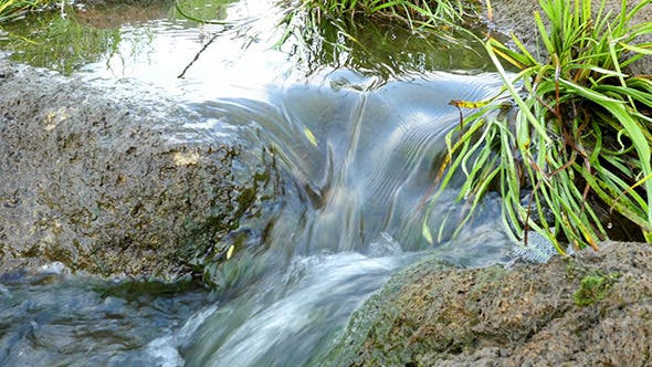 Thumbnail for Fast Flowing River With Stones In The Water
