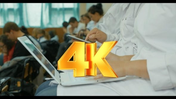 Thumbnail for Medical Students Using Laptop And Pad On The