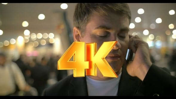 Thumbnail for Businessman Having a Phone Talk At The Airport