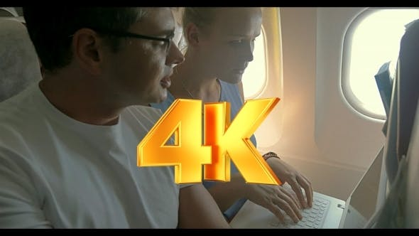Thumbnail for Business People Working During The Flight