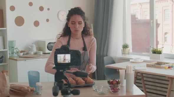 Thumbnail for Blogger Demonstrating Baking Decorations on Camera