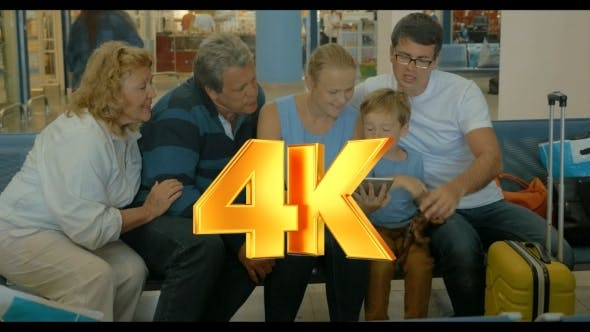 Thumbnail for Big Family With Tablet In Waiting Room