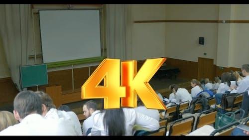 Lecture In Auditorium Of Medical University