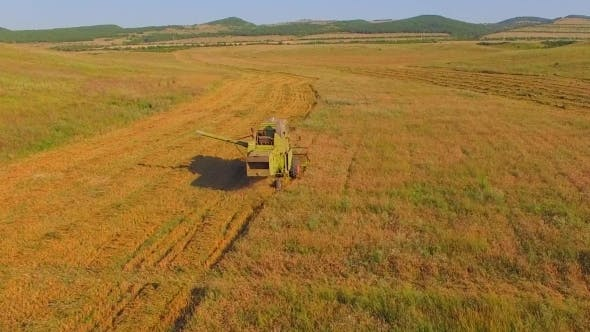 Thumbnail for Small Farms Old Combine Harvesting