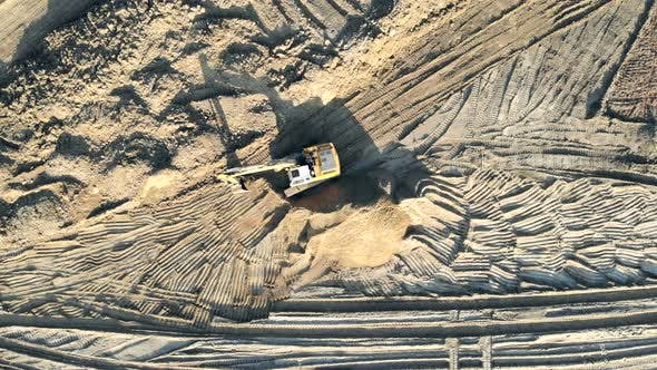Thumbnail for Excavator clears the Construction site