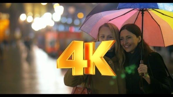 Weibliche Freunde machen Selfie unter Regenbogen