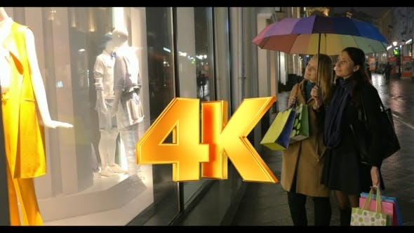 Thumbnail for Women Discussing Fashionable Clothing Outdoor