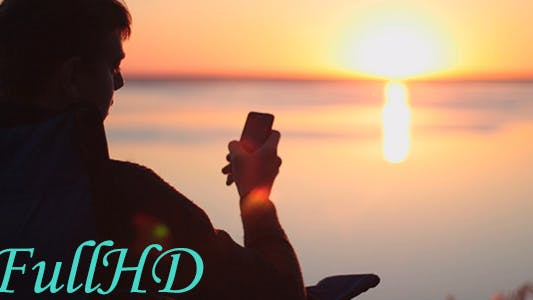Thumbnail for At Dawn, a Man Writes a Romantic Message on Valentine's Day