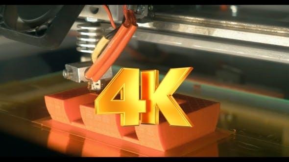 Thumbnail for 3D Druck des Buchstabens E