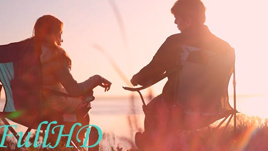 Thumbnail for Man And Girl Meet Dawn