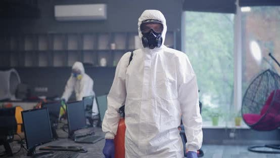 Thumbnail for Decontamination Personnel Looking at Camera