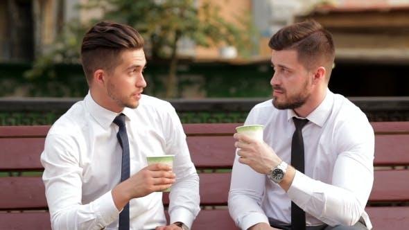 Thumbnail for Two Businessmen On a Break