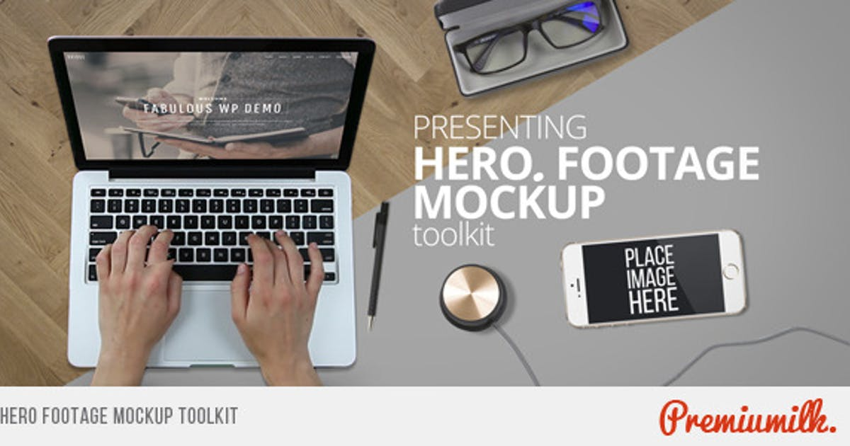 Download Hero Footage Mockup Toolkit by Premiumilk