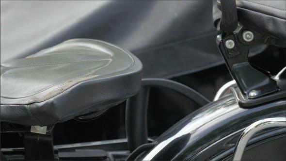 Der Beifahrersitz des Motorrads