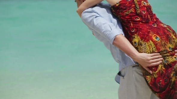 Thumbnail for Happy Couple On Tropical Beach