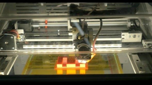 Thumbnail for 3D Printer At Work