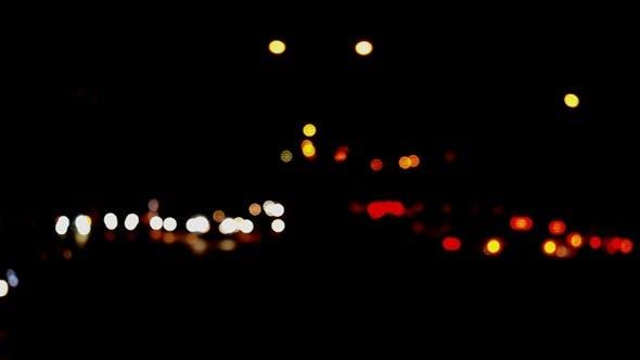 Thumbnail for Defocused Fast Night Traffic Lights