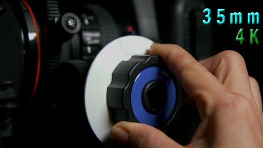 Cover Image for Adjusting Professional Cinema Camera Lens 01