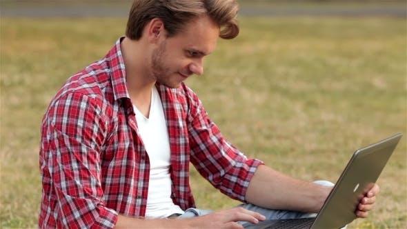 Thumbnail for Smart Guy Studing Outdoors