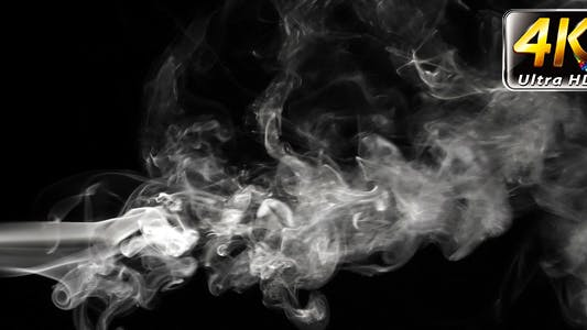 Thumbnail for Abstract White Smoke on Black Background