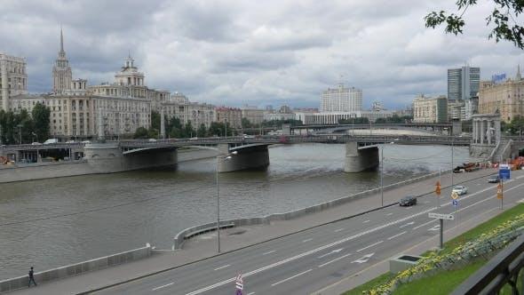 Thumbnail for blick auf die borodinsky brücke, Moskwa-fluss