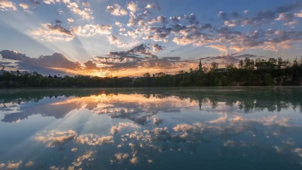 Thumbnail for Lake Timelapse with beautiful clouds