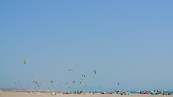 Thumbnail for Beach With Kite Surfers