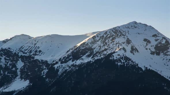 Thumbnail for Sunny Evening in Winter Alps Mountains Nature