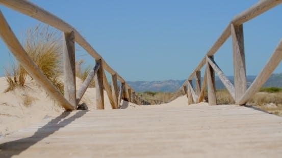 Thumbnail for View On a Bridge On Sandy Beach