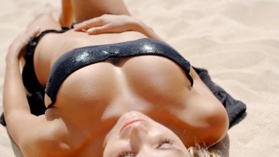 Thumbnail for Girl In Black Bikini On The Beach