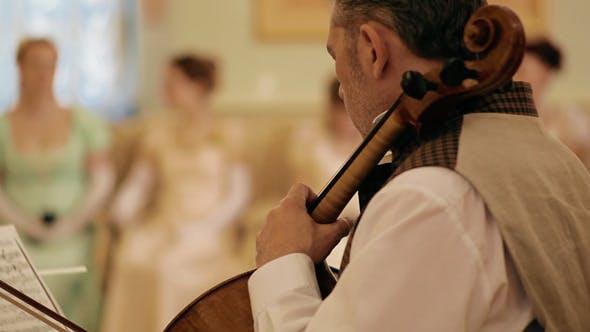 Thumbnail for Musician Play The Violoncello