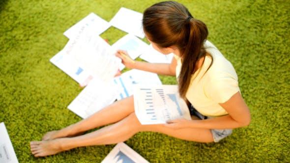 Thumbnail for Freelancer Girl Paper Work