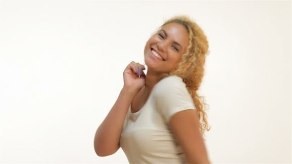 Thumbnail for Happy Overjoyed Woman Celebrating Successful