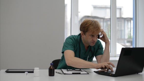 Thumbnail for Doctor Sharing Important information on Phone