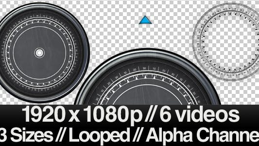 Thumbnail for 6 High Tech Compass Videos - ALPHA - LOOPED
