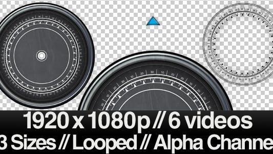 6 High Tech Compass Videos - ALPHA - LOOPED