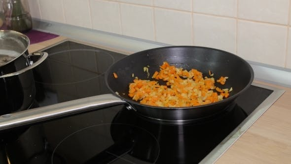 Thumbnail for On The Stove Boiling Pot Worth Mushroom Soup