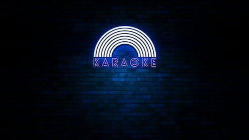 Karaoke-Neonlicht-Zeichen flackernd