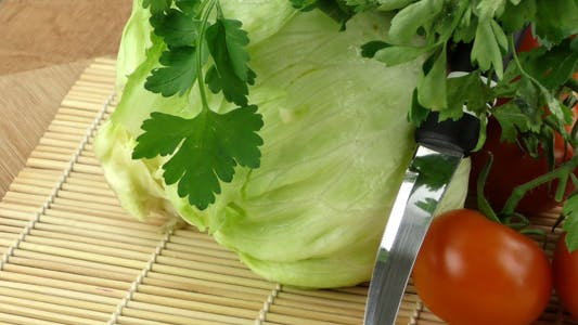 Thumbnail for Cabbage Parsley Tomato and Knife