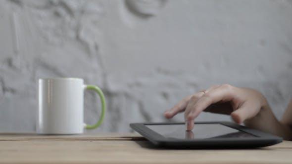 Thumbnail for Girl Hand Using Tablet
