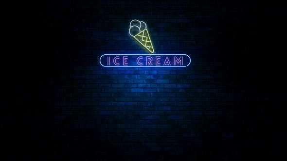 Ice Cream Neon Light Sign