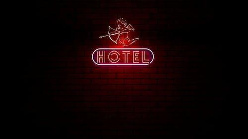 Hotel Valentine Neon Light Sign